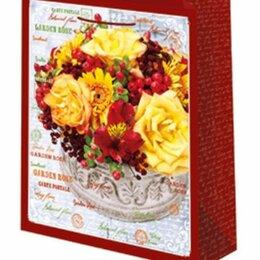 Подарочная упаковка - Пакет подарочный Желтые розы 18х23 см, 0