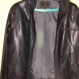 Куртки - Кожаная мужская куртка, 0