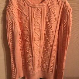 Свитеры и кардиганы - Персиковый вязаный свитер, 0