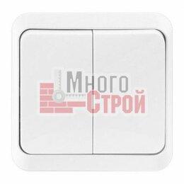 Концевые, позиционные и шарнирные выключатели - Выключатель 2-клавишный 10А белый «Юпитер», 0