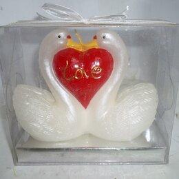 Декоративные свечи - Свеча Лебеди с сердцем 12x5x10см, 0