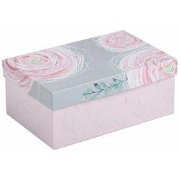 Корзины, коробки и контейнеры - Коробка прямоугольная Цветы 27х17,5х9,5, 0