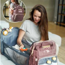 Рюкзаки, ранцы, сумки - Рюкзак для мам с раскладывающейся кроваткой для малыша, 0