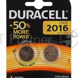 Батарейки - Батарея Duracell Dl/cr2016 Cr2016  2шт, 0