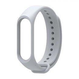Ремешки для часов - Ремешок силиконовый для Mi Band 5 - серый, 0