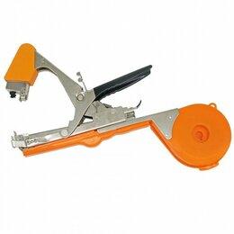 Шпалеры, опоры и держатели для растений - Подвязчик растений с лентой и скобами Tape Tool (оранжевый), 0