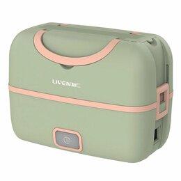 Контейнеры и ланч-боксы - Ланч-бокс Liven Fun Portable Cooking Electric Lunch Box (FH-18) (зеленый), 0