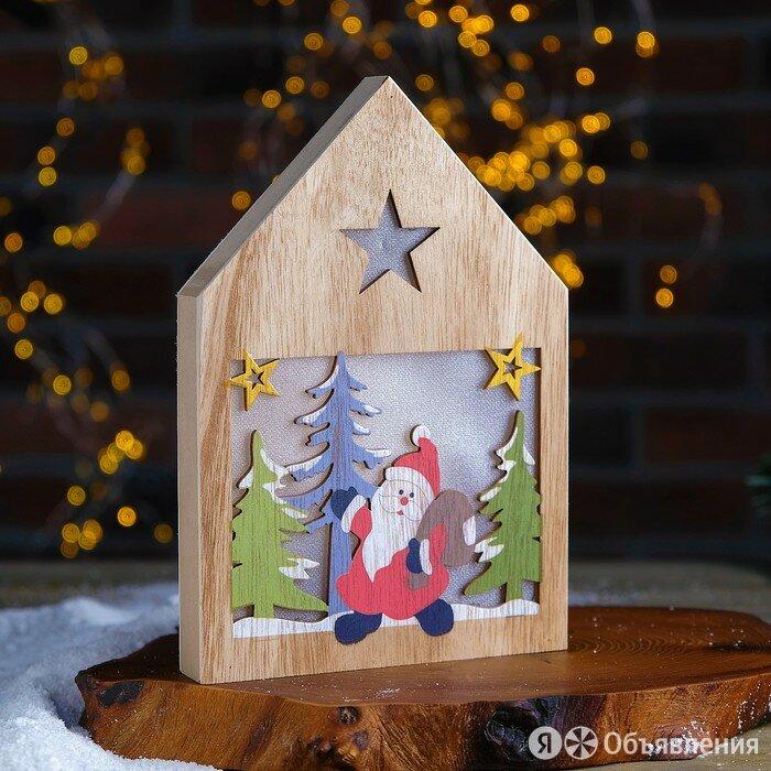 Декор с подсветкой «Дед Мороз с подарками» 2,2×15,5×22 см по цене 998₽ - Ночники и декоративные светильники, фото 0