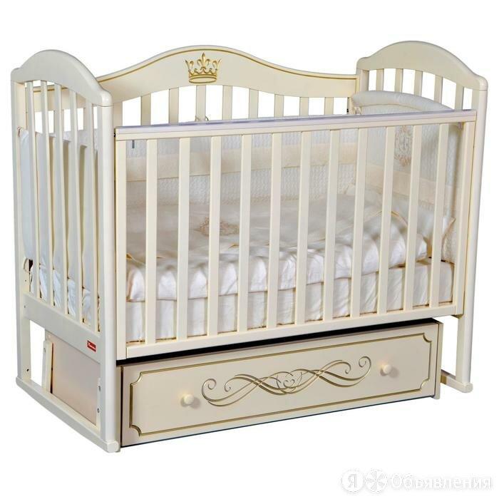 Кроватка Berta Elite, универсальный маятник, фигурная спинка, ящик, цвет слон... по цене 16800₽ - Кроватки, фото 0