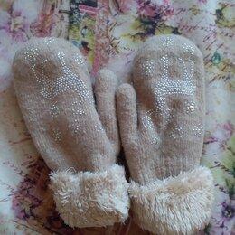 Перчатки и варежки - Варежки зимнии беж., 0
