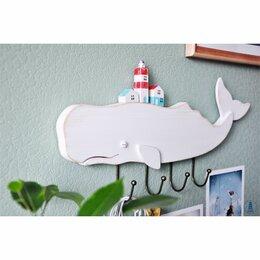Хранение игрушек - Белый кит - вешалка / Ручная работа, 0