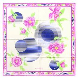 Галстуки и бабочки - Элегантный женский платочек в светлых тонах Leonard 28145, 0