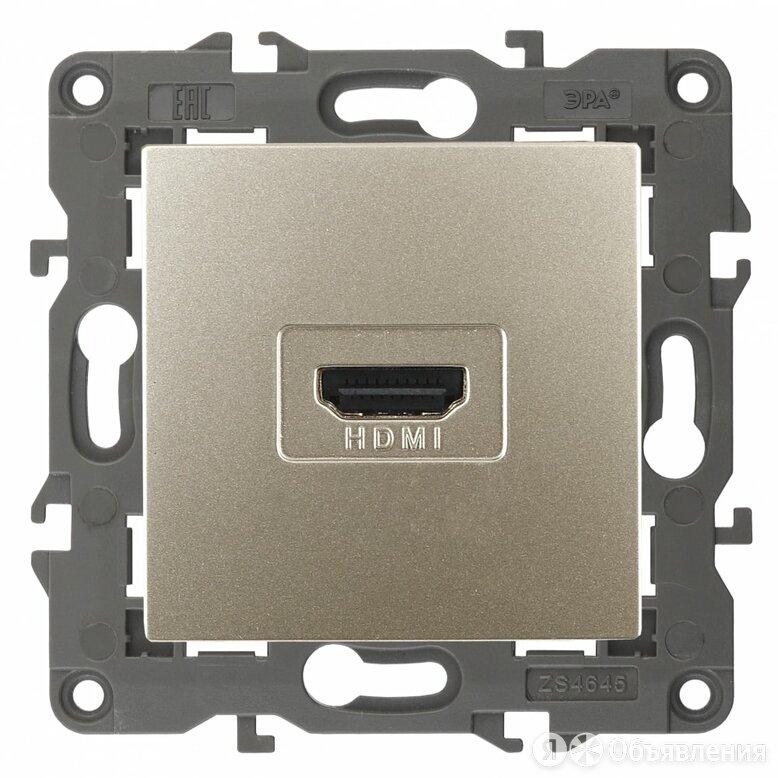 HDMI розетка ЭРА 14-3114-04 Elegance по цене 1049₽ - Электроустановочные изделия, фото 0