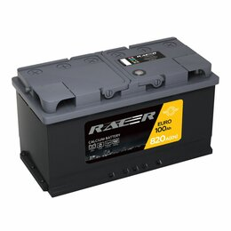 Аккумуляторы и комплектующие - Автомобильный аккумулятор racer GT 100.0, 0