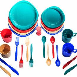 Аксессуары - Аксессуары TRAMP Набор посуды Tramp 4 персоны TRC-053  пластик, 0
