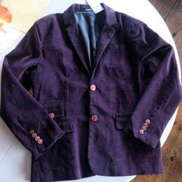 Пиджаки - Новый Пиджак тёмно бордовые микровельвет, 0
