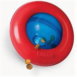 Игрушки-антистресс - KONG игрушка-интерактивная под лакомства GYRO 13 см малая , 0