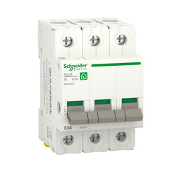Электроустановочные изделия - SE RESI9 Выключатель нагрузки (мод. рубильник) 63А 3П R9PS363 RESI9 Schneider..., 0