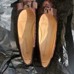 Балетки - коричневый туфли женские, 0