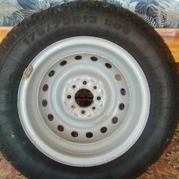 Шины, диски и комплектующие - Колёса штамповка r14 с резиной 175/65/r14 hankook шипованые, 0