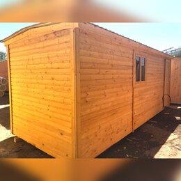 Готовые строения - Бытовка деревянная новая 6м А-591, 0
