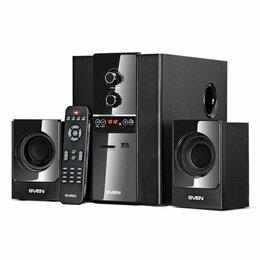 Акустические системы - Колонки SVEN MS-1820 чёрный 2.1, мощность(RMS):18Вт+2х11 Вт, FM-тюнер, USB/SD, д, 0