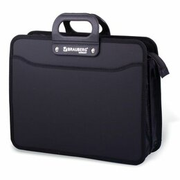 Рюкзаки, ранцы, сумки - Портфель пласт.  3 отд. Brauberg Премьер, черный, на молнии, 390*315*120мм, 0
