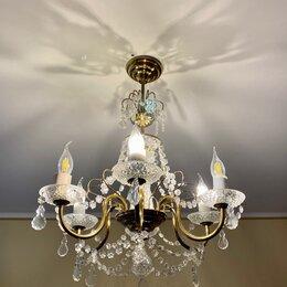 Люстры и потолочные светильники - Винтажная люстра 6 рожков, 6 филаментных ламп-свечей , 0