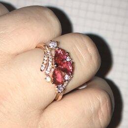 Комплекты - Набор серьги и кольцо позолоченное с цирконием., 0