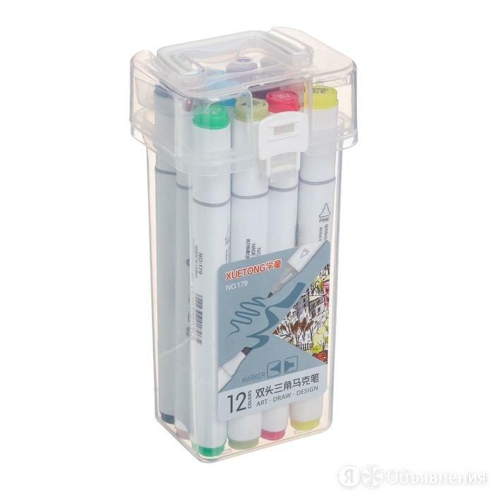 Набор маркеров для скетчинга двусторонние 12 штук/12 цветов по цене 519₽ - Другое, фото 0
