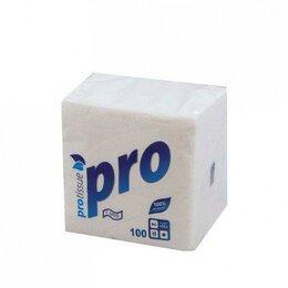 Бумажные салфетки, носовые платки - Салфетки бумажные белые 1сл 100л 22х22см RROtissue, 0