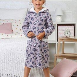 Домашняя одежда - Халат для девочки Хаски-1, 0