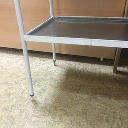 Оборудование и мебель для медучреждений - Стол д/размещения инструментов и медикаментов 2-полки, 0