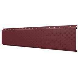 Стеновые панели - Софит, линеарная потолочно-стеновая панель ПЕРФОРИРОВАННАЯ RAL3005 Красное В..., 0