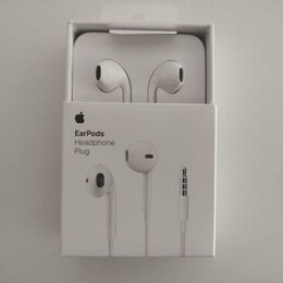 Наушники и Bluetooth-гарнитуры - Наушники apple earpods с разъемом 3,5 мм original, 0