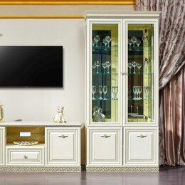 Шкафы, стенки, гарнитуры - Витрина 2 дверная Берта жемчуг, 0