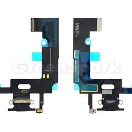 Прочие запасные части - Шлейф для iPhone XR + разъем зарядки + микрофон (черный) (100% components), 0