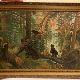 Картины, постеры, гобелены, панно - Антикварная Картина, написана маслом на холсте , 0