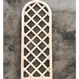 Заборчики, сетки и бордюрные ленты - Решетка садовая накладная с арками 500*1300мм, ячейка 100мм, 0