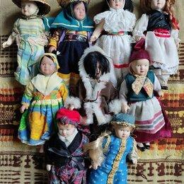 Фигурки и наборы - Фарфоровые куклы в этническом костюме Италия бренд Fabbri Editore 1980, 0
