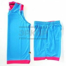 Спортивные костюмы и форма - Форма баскетбольная майка шорты голубо-розов (х5), 0