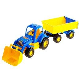 Автокресла - Трактор с прицепом №1 и ковшом «Силач», МИКС, 0