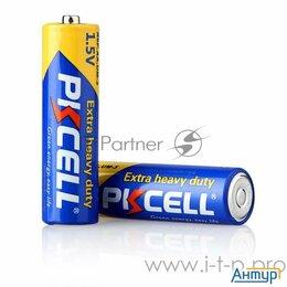 Батарейки - Солевой элемент питания Pkcell R6p 4b тип   Aa 4 шт в блистере, 0