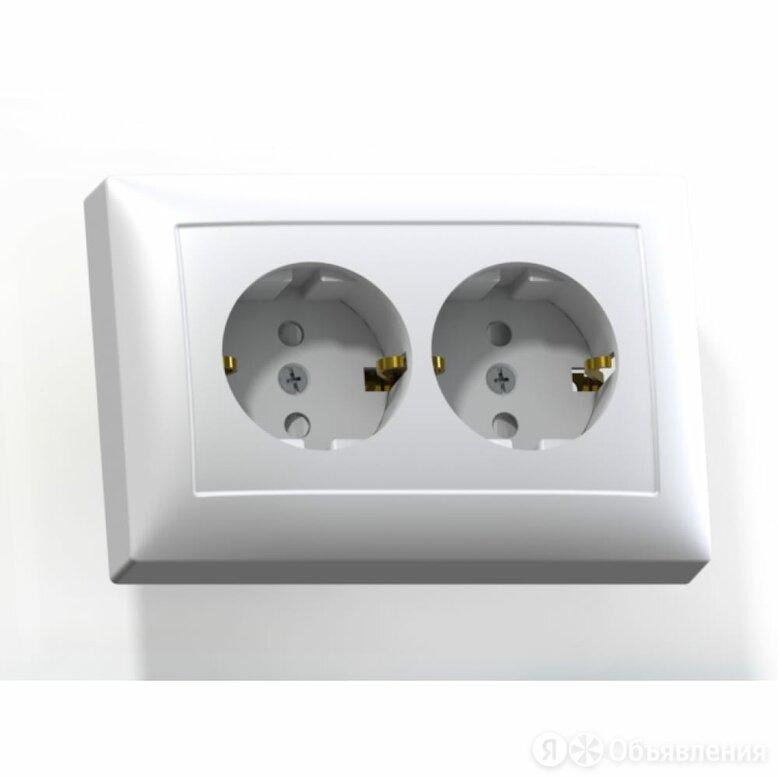 Двухместная розетка Кунцево-Электро СЕЛЕНА РС16-401М по цене 143₽ - Электроустановочные изделия, фото 0