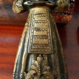 Подсвечники - подсвечник латунный настенный в русском стиле,старинный, 0