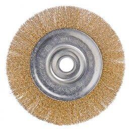 Для шлифовальных машин - Щетка металл. для УШМ 200мм/22мм, плоская,  ЕРМАК..., 0