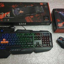 Комплекты клавиатур и мышей - Комплект клавиатура B314 и мышь Bloody беспроводная, 0