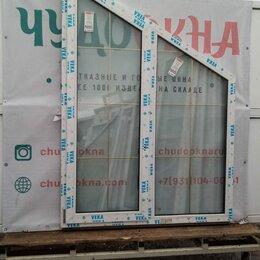 Окна - Окно, ПВХ Veka 58мм, 2000(В)х1400(Ш) мм, поворотно-откидное, двухстворчатое, 0