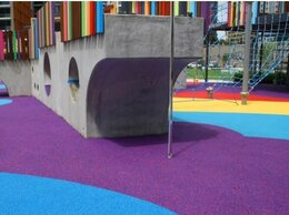 Садовые дорожки и покрытия - Фиолетовое резиновое покрытие из резиновой крошки, 0