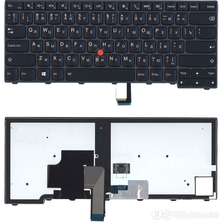 Клавиатура для ноутбука Lenovo ThinkPad T440 T440P T440S черная с подсветкой по цене 3490₽ - Аксессуары и запчасти для ноутбуков, фото 0